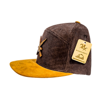 Load image into Gallery viewer, Cordoroy 7 Panel Bear Arms Hat