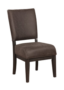 Solid Wood Side Chair with Padded Faux Leather