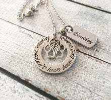 Load image into Gallery viewer, Pet loss - Hand stamped necklace - Pet memorial