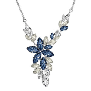 Crystal Necklace - Blue Leaves