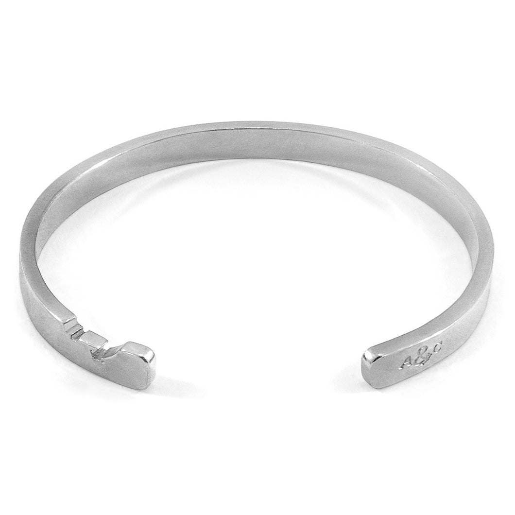 Axton Anchor Cutout Wayfarer Silver Bangle