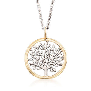 Gold Edge Praying to the Tree of Life Necklace in