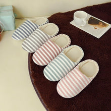 Load image into Gallery viewer, Casual Flat Home Slippers Women Men Warm Striped