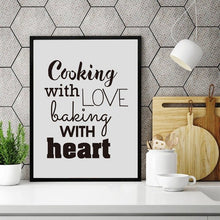 Load image into Gallery viewer, Cooking With Love Kitchen Quote Wall Art Prints