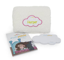 Load image into Gallery viewer, Dream Pillow with Pink Monogram Patch
