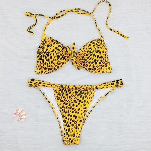 Enchanting Sexy Swimwear Women Leopard Print