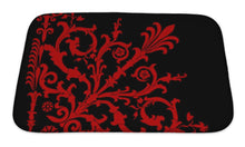 Load image into Gallery viewer, Bath Mat, Red On Black Corner Pattern