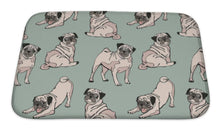 Load image into Gallery viewer, Bath Mat, Cute Dogs Pug Pattern