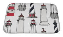 Load image into Gallery viewer, Bath Mat, Lighthouse Pattern