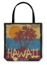 Load image into Gallery viewer, Tote Bag, Hawaii Tropical Beach Tshirt