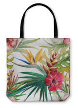 Load image into Gallery viewer, Tote Bag, Tropical Pattern