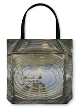 Load image into Gallery viewer, Tote Bag, Fresnel Magnifying Lens Close Up Lighthouse Glass Rotating Housing