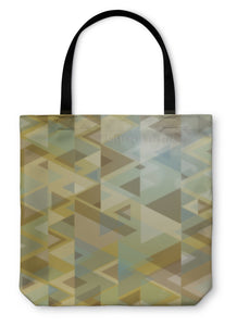Tote Bag, Vintage Hipster Triangle Pattern