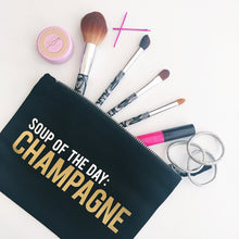 Load image into Gallery viewer, Soup Of The Day - Champagne :: Makeup Bag