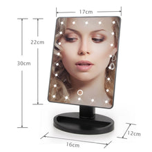 Load image into Gallery viewer, LED Touch Screen Makeup Mirror Professional Vanity
