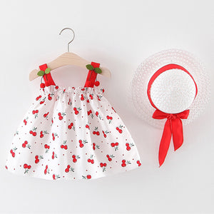 Sweet Toddler Baby Girls Floral Ruched Bow