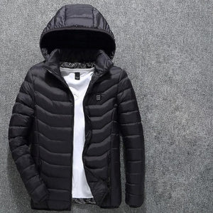 Men Winter Thick USB Heating Cotton  Waterproof
