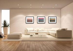 Set of 3 Miami Beach Abstract Seascapes Fine Art
