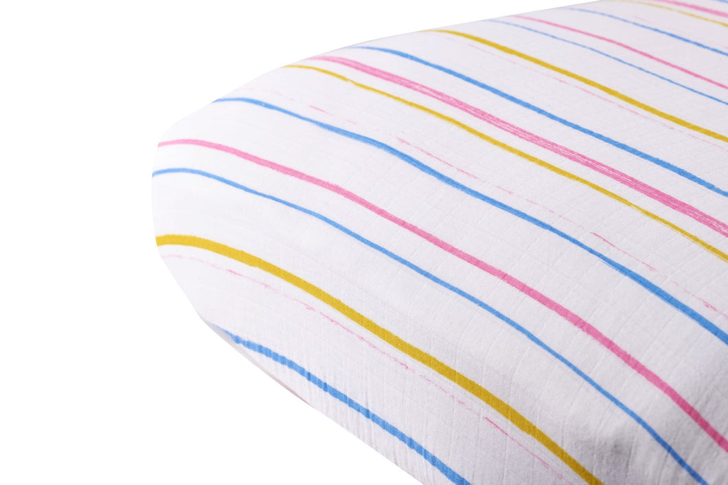Spring Time Stripe Crib Sheet