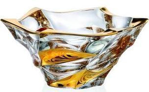 GOLD Crystal Glass Bowl