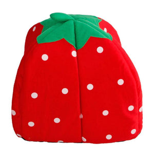 Soft Strawberry Leopard Pet Dog Cat House Tent