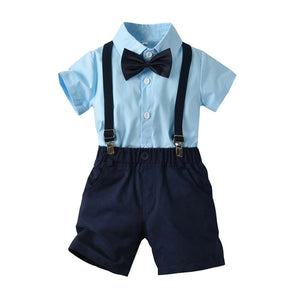 Summer Cute Infant Baby Boys Gentleman Bow Tie T