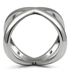 Women Stainless Steel No Stone Rings TK395