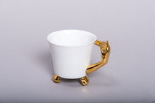 Load image into Gallery viewer, Retro Style Porcelain Cup 'GOLDEN HAND' l 12oz l