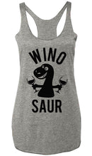 Load image into Gallery viewer, WINO SAUR Heather Gray Tank Top - Black Print
