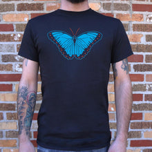 Load image into Gallery viewer, Blue Morpho Butterfly T-Shirt (Mens)