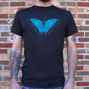 Blue Morpho Butterfly T-Shirt (Mens)