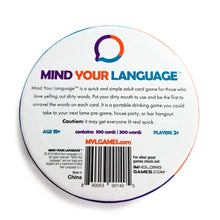 Load image into Gallery viewer, MIND YOUR LANGUAGE® The Funniest Adult Party Game