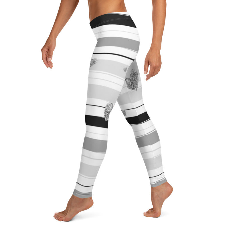 Silver Striped Leggings