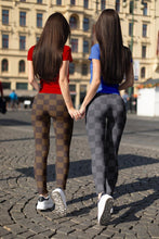 Load image into Gallery viewer, Gray Checkered leggings, Capris and Shorts
