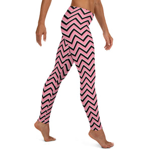 Valentine's Day Pink Chevron leggings