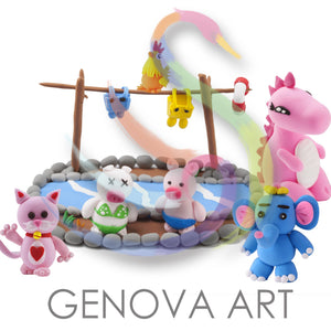 Air Dry Clay Modeling Set GCS01 Free Shipping