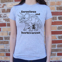 Load image into Gallery viewer, Ferocious And Herbivorous T-Shirt (Ladies)