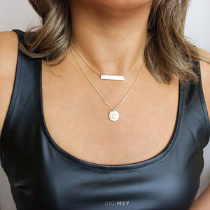 Layered Necklace Set With Layering Silver, Gold
