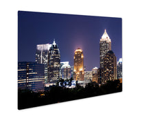Load image into Gallery viewer, Metal Panel Print, Group Of Buildings At Atlantdowntown At Dusk