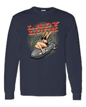 Load image into Gallery viewer, Men's/Unisex Sexy Vintage Lady Luck On Navy Bomb