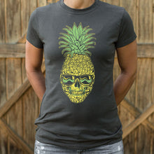 Load image into Gallery viewer, Pineapple Skull T-Shirt (Ladies)