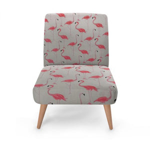 Grey Flamingo Accent Occasional Chair