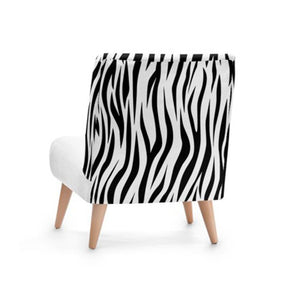Zebra Print Accent Occasional Chair