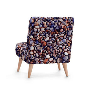 Eclectic Stone Print Accent Occasional Chair