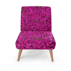 Pink Floral Print Accent Occasional Chair