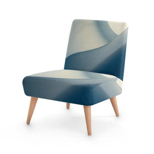 Modern Curve Print Accent Occasional Chair
