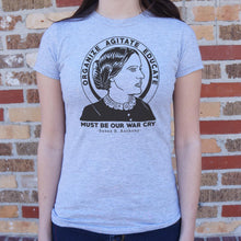 Load image into Gallery viewer, Susan B. Anthony Quote T-Shirt (Ladies)