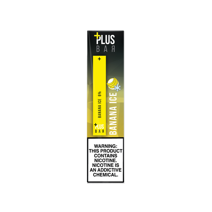 Plus Bar - BANANA ICE Disposable Device