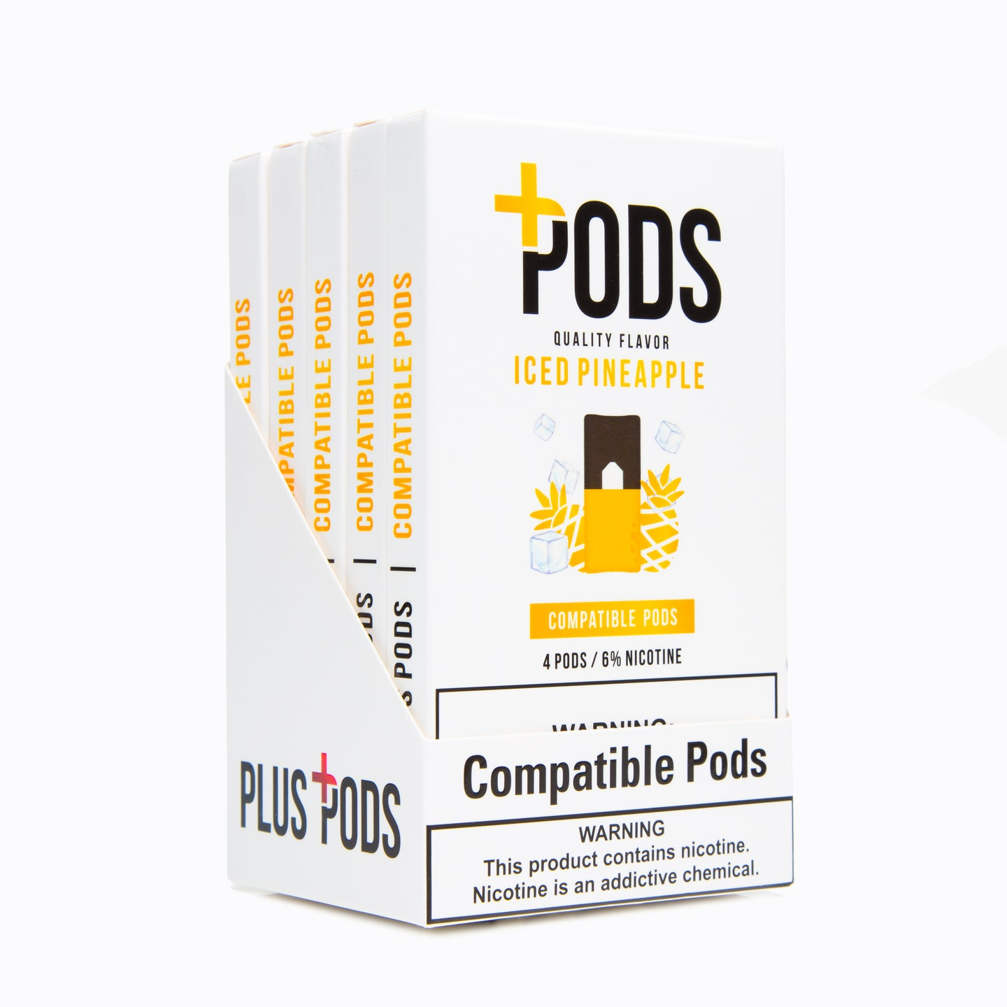 Iced Pineapple Compatible Pods 6% (Display of 5)