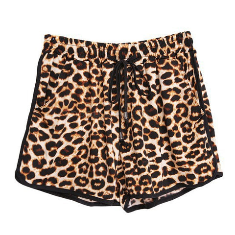 Summer Casual Leopard Printed Shorts